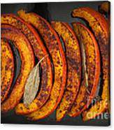 Roasted Pumpkin Slices Canvas Print