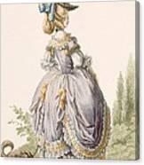 Robe De La Circassienne, Engraved Canvas Print