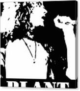 Robert Plant Black And White Pop Art Canvas Print