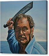 Robert Shaw In Jaws Canvas Print