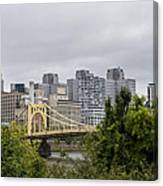 Roberto Clemente Bridge Pittsburgh Pa Canvas Print