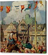 Robin Defeats Nat Of  Nottingham Canvas Print
