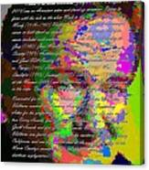 Robin Williams - Abstract With Text Canvas Print