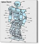 Robot Patent Canvas Print