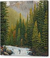 Robson River Falls Canvas Print