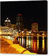 Rochester At Night Canvas Print