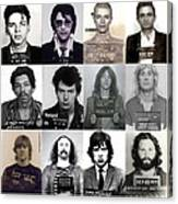 Rock and Roll's Most Wanted - Part II Canvas Print