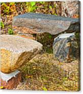 Rock Bench And Table Canvas Print