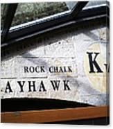 Rock Chalk Ku Canvas Print