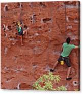 Rock Climbing 101 Canvas Print