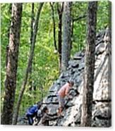 Rock Climbing Youths Canvas Print