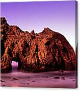 Rock Formations On The Beach, Pfeiffer Canvas Print
