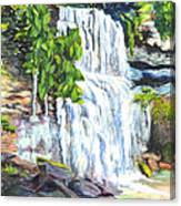 Rock Glen Falls Ontario Canada Canvas Print