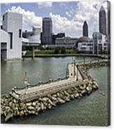 Rock Hall Of Fame On Lake Erie Canvas Print