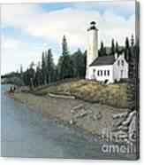 Rock Harbor Lighthouse Canvas Print