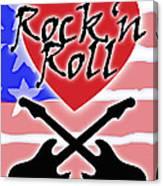 Rock N Roll Stars N Stripes Canvas Print