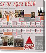 Rock Of Ages Bass Beer Timeline Canvas Print