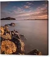 Rock Peninsula In Humboldt Bay Canvas Print