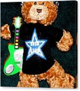 Rock Star Teddy Bear Canvas Print