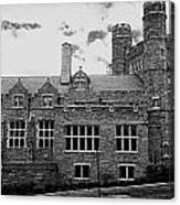 Rockefeller Hall - Bryn Mawr In Black And White Canvas Print