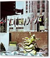 Prometheus Rockefeller Plaza 1950 Canvas Print