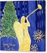Rockefeller Angel Canvas Print