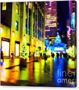 Rockefeller Center Christmas Trees - Holiday And Christmas Card Canvas Print