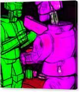 Rockem Sockem Robots - Color Sketch Style - Version 2 Canvas Print