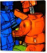 Rockem Sockem Robots - Color Sketch Style - Version 3 Canvas Print