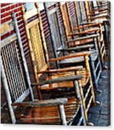 Rockers In Waiting Canvas Print