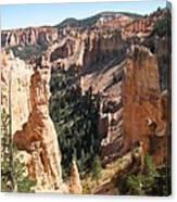 Rockformation At Bryce Canyon  Canvas Print