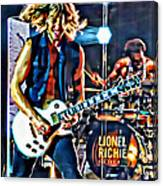 Rockin Guitarist Canvas Print