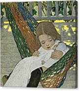 Rocking Baby Doll To Sleep Canvas Print