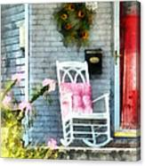 Rocking Chair With Pink Pillow Canvas Print