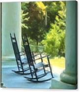 Rocking Chairs And Columns Canvas Print