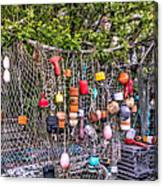 Rockport Fishing Net And Buoys Canvas Print