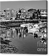 Rockport Harbor - Bw Canvas Print