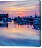 Rockport Harbor Sunrise Over Motif #1 Canvas Print