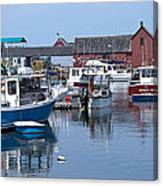 Rockport Inner Harbor Canvas Print