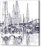 Rockport Sailboats - Photo Shetch Canvas Print