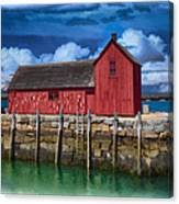 Rockports Motif Number 1 Painting Canvas Print