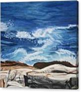 Rocks Above The Sea Canvas Print