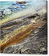 Rocks And Clear Water Abstract Canvas Print