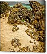 Rocks And Sand Of Elafonisi Canvas Print