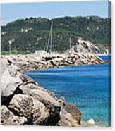 Rocks And Sea Canvas Print
