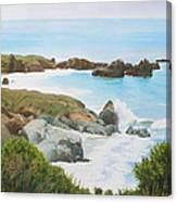 Rocks And Waves - California Coast Canvas Print