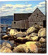 Rocks At Bay In Nova Scotia Canvas Print