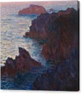 Rocks At Belle Ile Canvas Print
