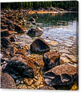 Rocks At Shore Of Georgian Bay Canvas Print