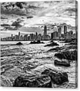 Rocks By The Sea Canvas Print